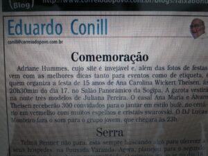 Estamos na mídia: Jornal Correio do Povo, 01/08/12