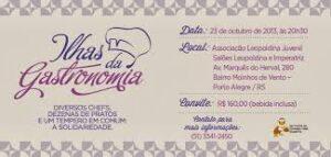 JANTAR ILHAS DA GASTRONOMIA- INSTITUTO DA CRIANÇA COM DIABETES